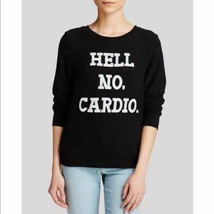 Wildfox Hell No Cardio Baggy Beach Jumper Size M